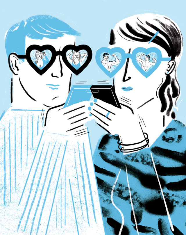 GEO Wissen, online_dating_illustration1