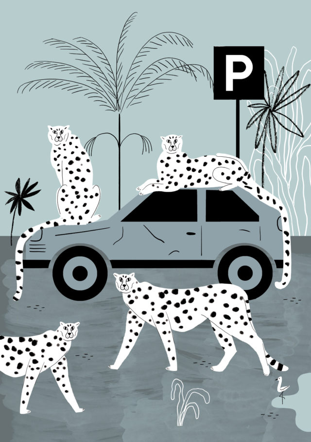 Poster Colletion, parkingzone